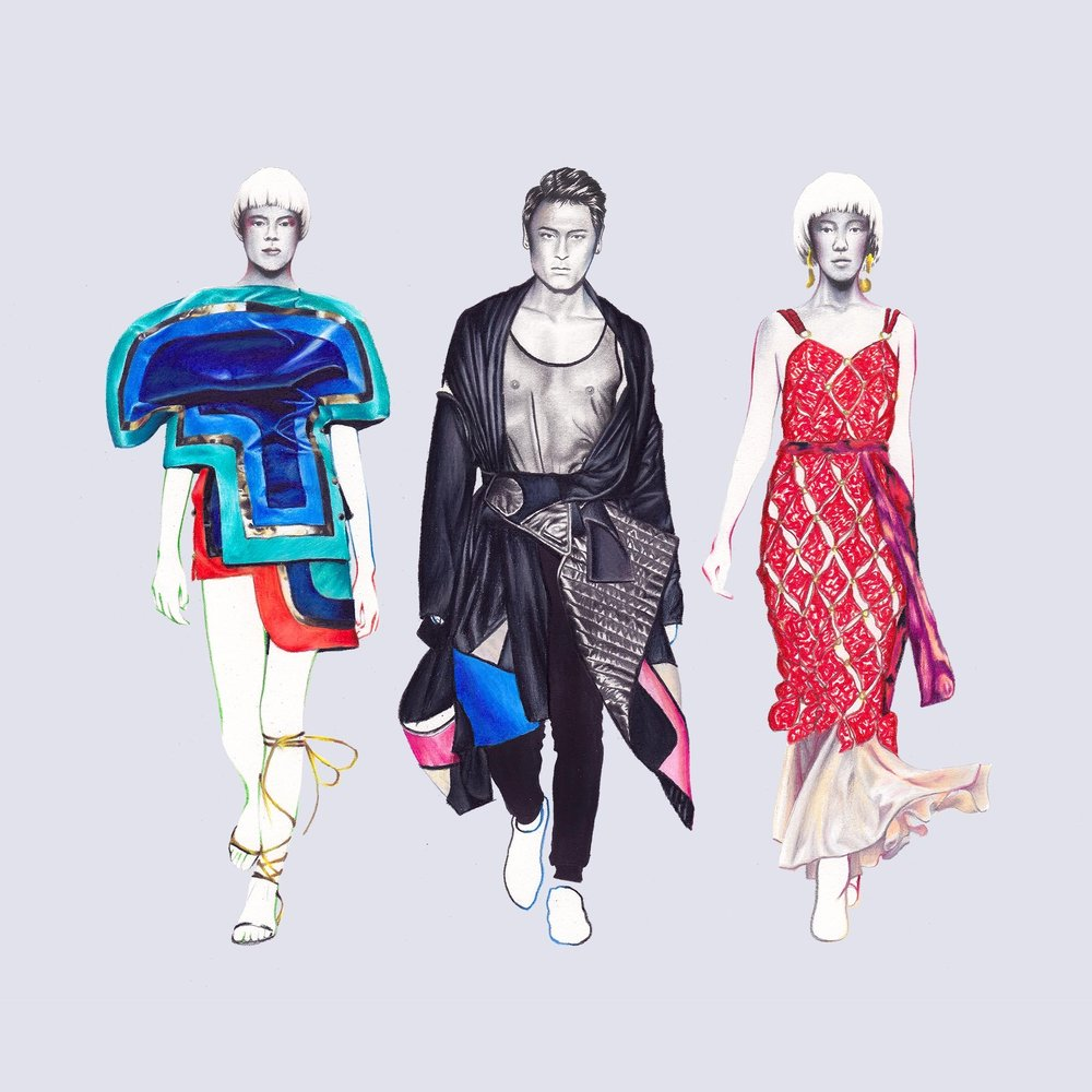 Runway Illustration for  JR Management