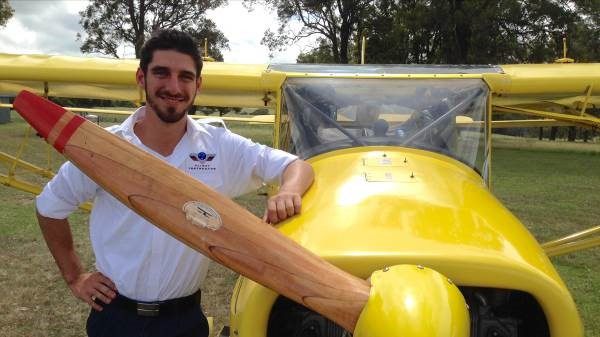 SAA Director Mitch Boyle, who is the youngest person to fly solo right around Australia, raising over a quarter of a million dollars for a village in East Timor.