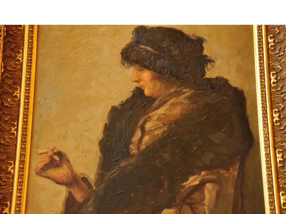 Schilderij van Georges la Barre. Richtprijs €500-€1000,-