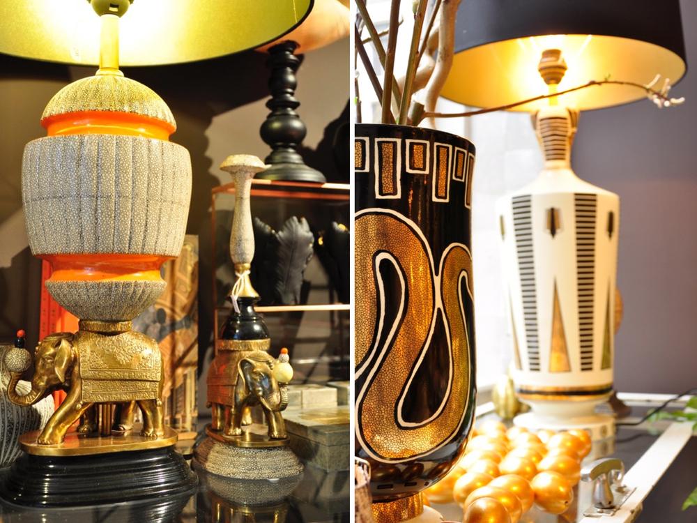 Lamp met olifanten-poot € 799,-.