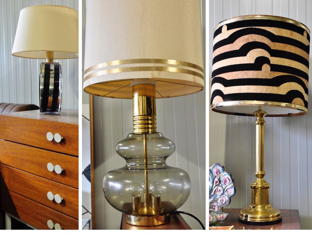 Design tafellamp chroom in plexiglas voet '80,€ 425,-Teak ladenkast met spiefel, € 345,- Tafellamp met rookglazen messing voet '70, € 365,-. Art deco tafellamp (set) met messing voet '60,€ 340,-