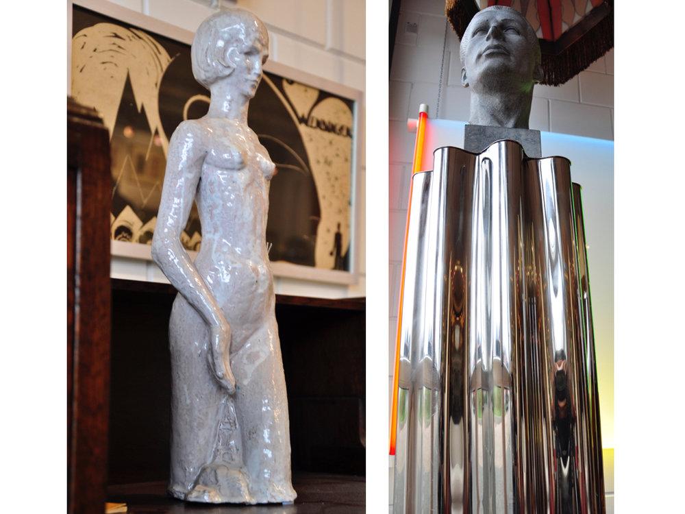 Geglazuurd aardewerk sculptuur van een  Baadster , ontwerp & uitvoering  Hildo Krop , in eigen atelier 1930, met bijbehorende catalogus (Volgrecht van toepassing), schatting €2000-3000
