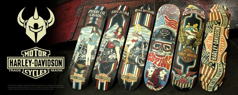 Darkstar Skateboards X Harley Davidson