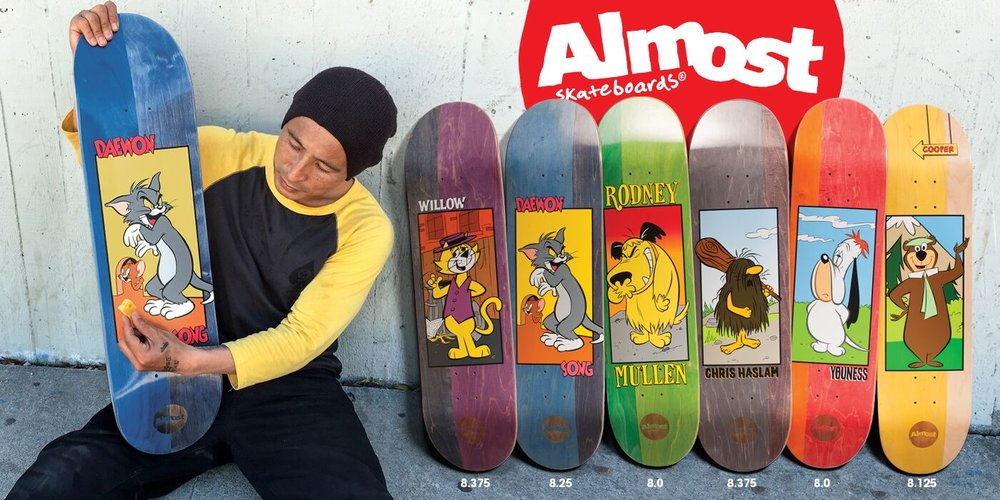 Almost Skateboards X Hanna-Barbera Collabo