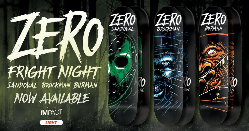 Zero Skateboards Fright Night Serie