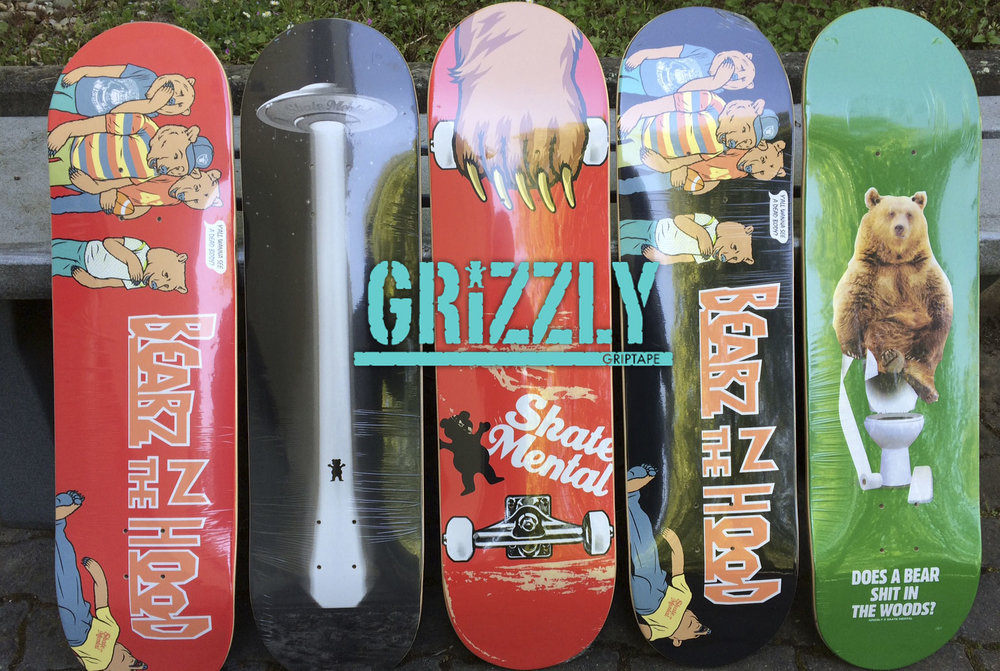 Grizzly X Skate Mental Collabo Deck Serie