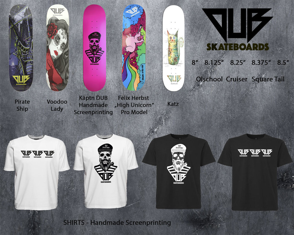 DUB Skateboards Urban Supplies