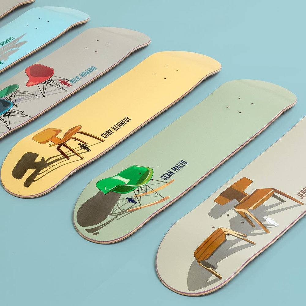 Girl Skateboards Modern Chair Series