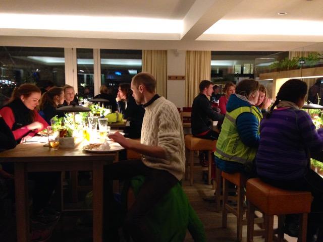 After run på Vapiano. Deilig med mat og drikke rett etter å ha løpt!