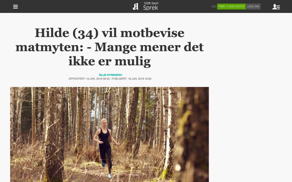 Intervju med meg om trening på vegetarkost i Sprek-avisene Aftenposten, Bergens Tidende, Stavanger Aftenblad, Adresseavisen, Fædrelandsvennen, Sunnmørsposten og Romsdals Budstikke. Les saken her!