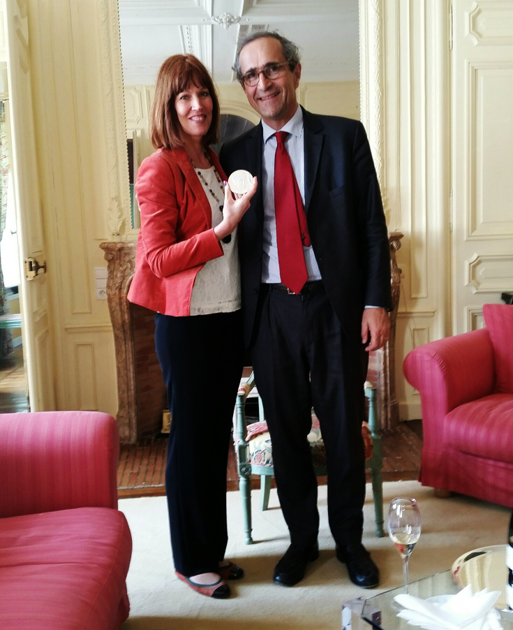 And after a lovely lunch received my beautiful shiny Bollinger Medal from M. Etienne Bizot, quel honneur! -