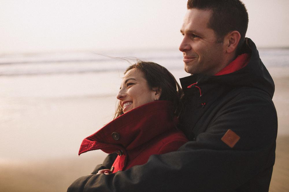 Un couple heureux, à Biscarrosse.