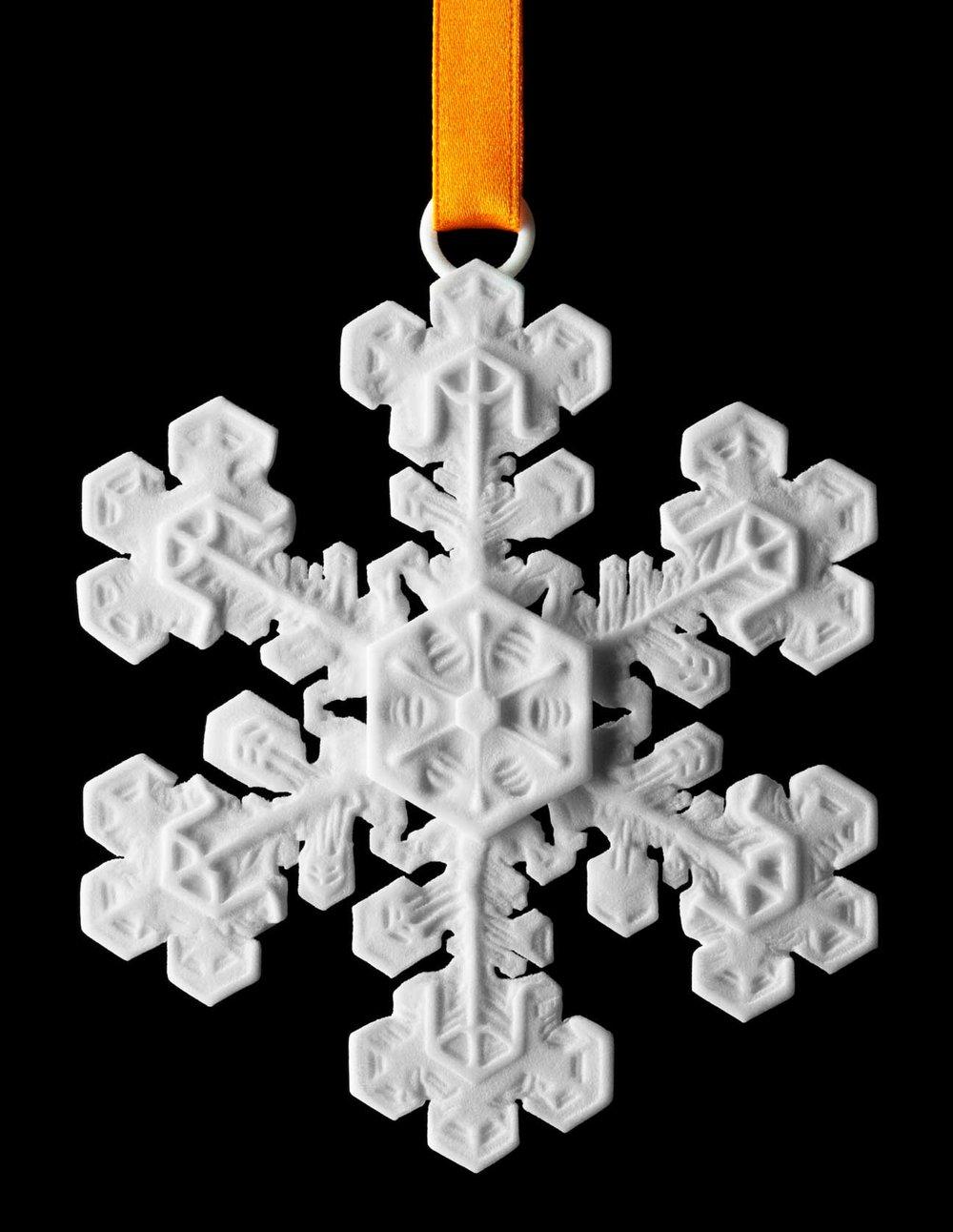 3d printed snowflake 2018