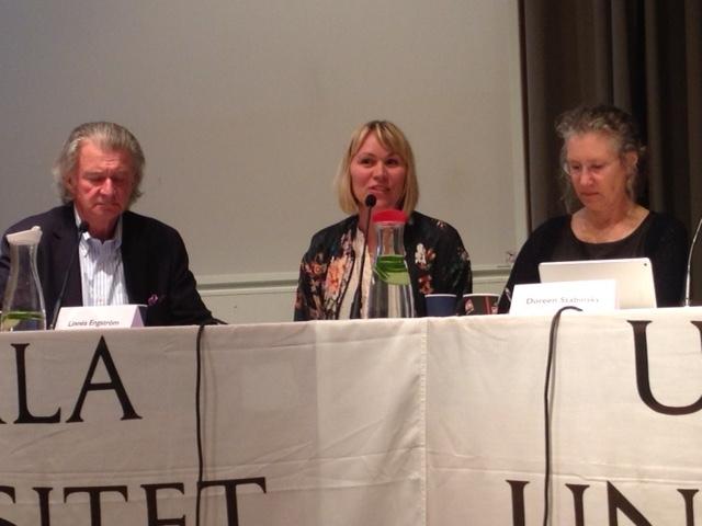 Seminariet på Almedalen om hur vi förverkligar Paris-avtalet arrangerad av Uppsala Universitet. Doreen Stabinsky, Linnéa Engström, Anders Wykman