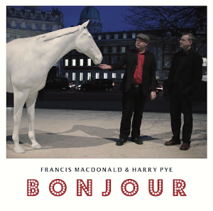 """Bonjour"" is a unique collaboration between Francis and Harry Pye - ""the master of lo-fi British art"" (The Guardian).  10 songs and spoken words pieces. Musical musings on life, loss, laughter, art, Lucian Freud, Mondrian and Mike Love - with a cameo from Kevin Eldon. 1.    I Feel Like A Record That's Scratched 2.    Sympathy For Jean-Luc Godard (video) 3.    I Made Him Smile 4.    Isle of Capri (video) 5.    Paul in Vauxhall 6.    Come and Stay With Me 7.    Mondrian in Liverpool 8.    Shoreditch Nights 9.    Mike Love Fan Club 10.  Cork in the Ocean PRE-ORDER Info: JAPAN/ASIA (Hostess) / CD & Digital / released 1st March 2017 ORDER UK/ROW (Shoeshine) / LP & Digital / released 26th May 2017 PRE-ORDER"