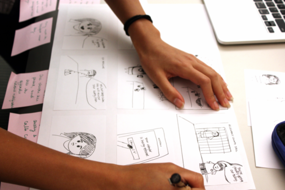 Storyboards  are a series of drawings that communicate how we envision the app and website will be used and how it can benefit users. The purpose of storyboards is to test out ideas and convey them in a way that is easy to understand and accessible to most people.