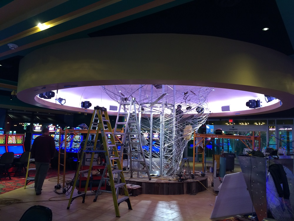 Final Stages of the Cyclone of Cash Lighting & Audio