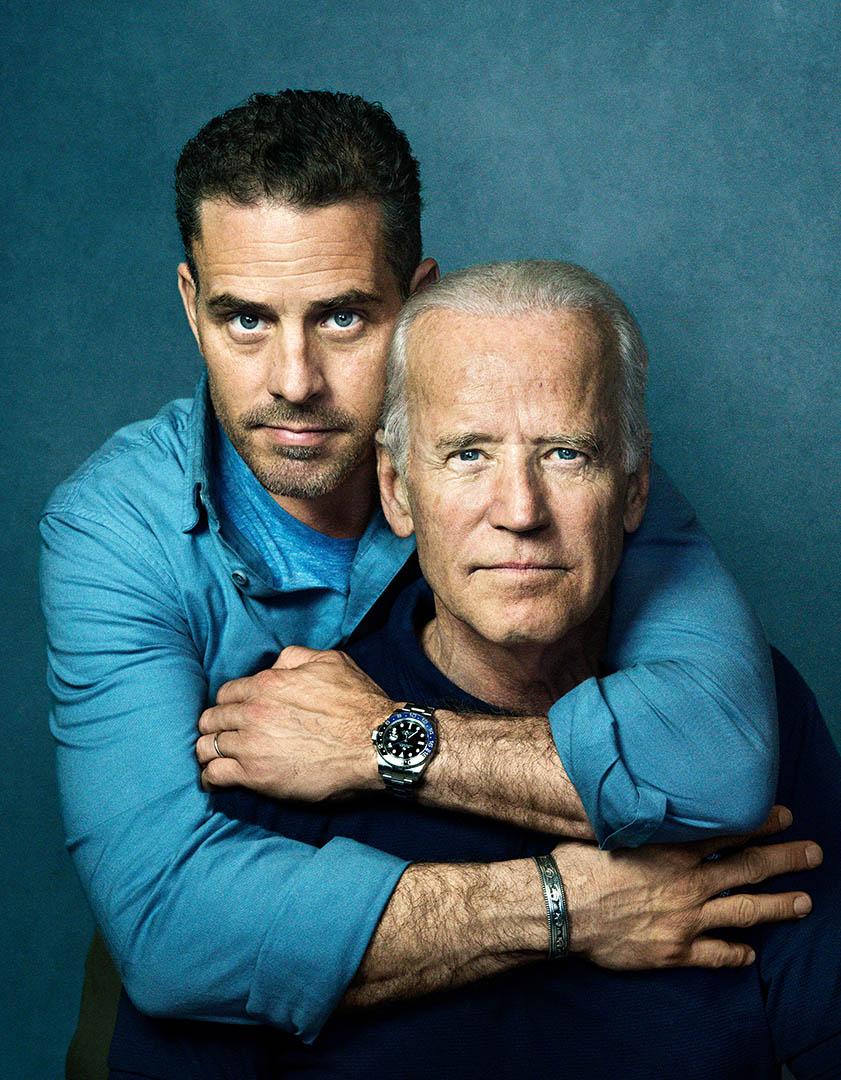 Vice President Joe Biden and Hunter Biden