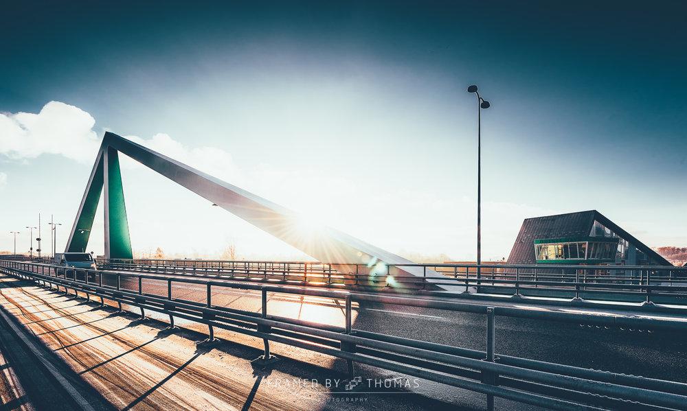 Odins bro (Odins bridge) in Odense, Denmark