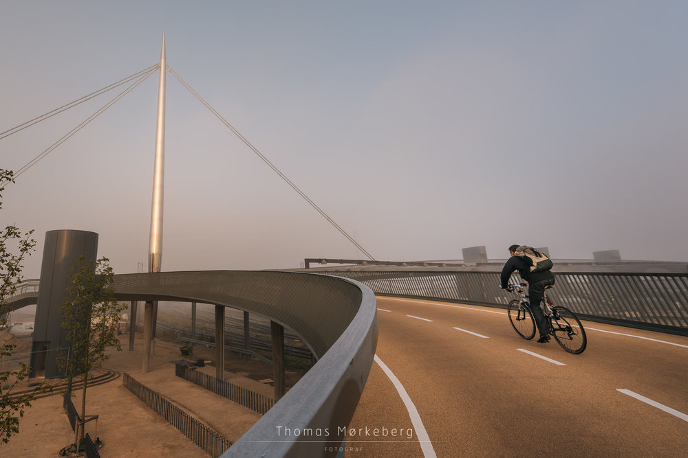 Byens bro (The City bridge) in Odense. A bicycle and pedestrian