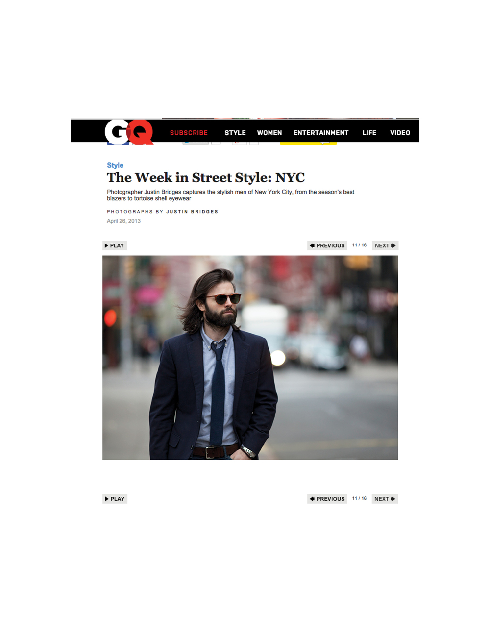 GQ   The Week in Street Style