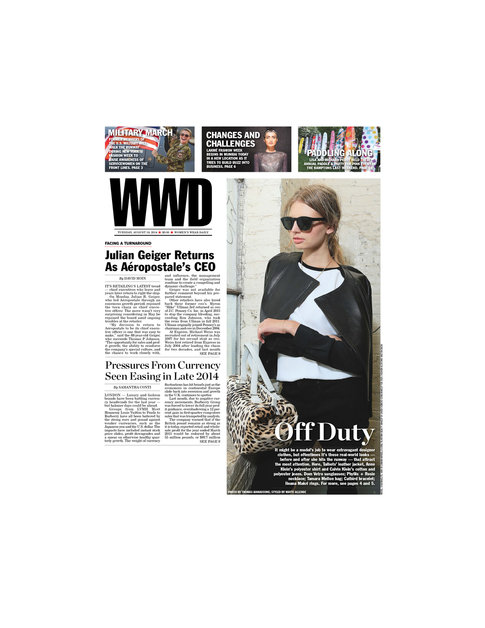 WWD   Cover feature
