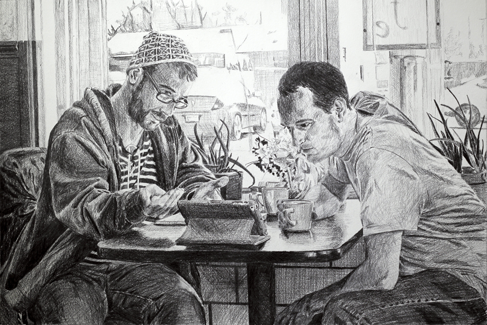 Reading an Ingenious Poem   Ep 2 Scene 2 Graphite on paper