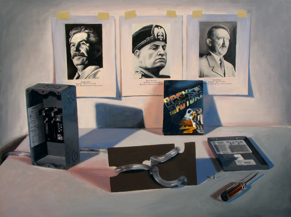 Preventing World War II  Oil on panel