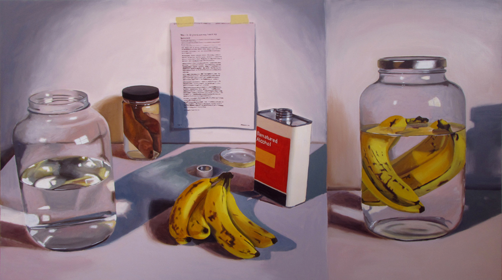 Banana Preservation  Oil on panel