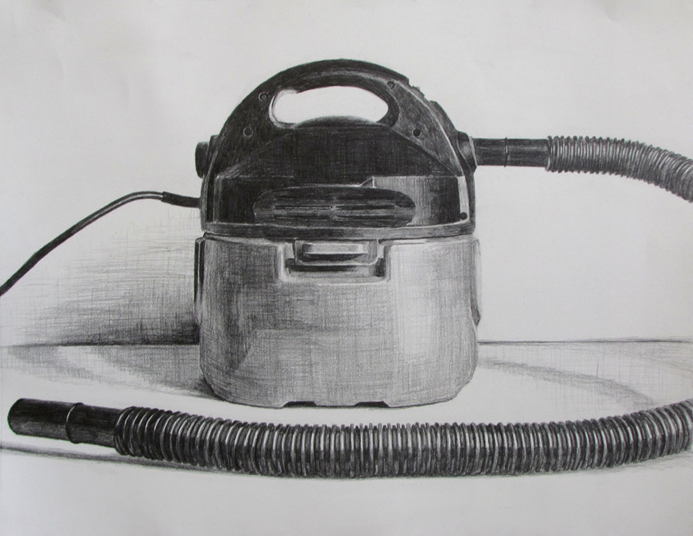 Vacuum Study  Graphite on paper