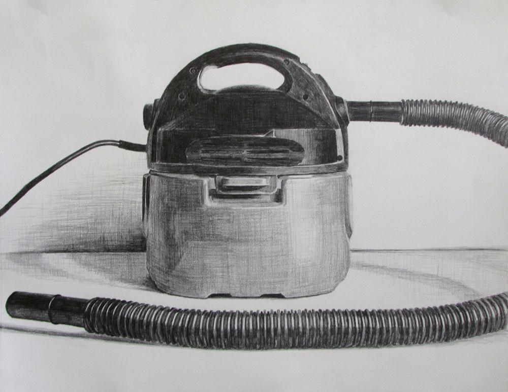 Vacuum Study  Graphite on paper