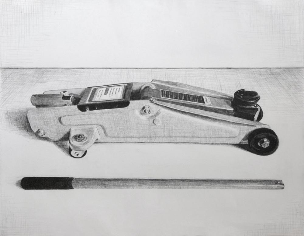 Car Jack  Graphite on paper