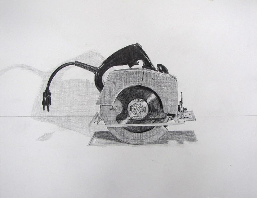 Circular Saw Study  Graphite on paper
