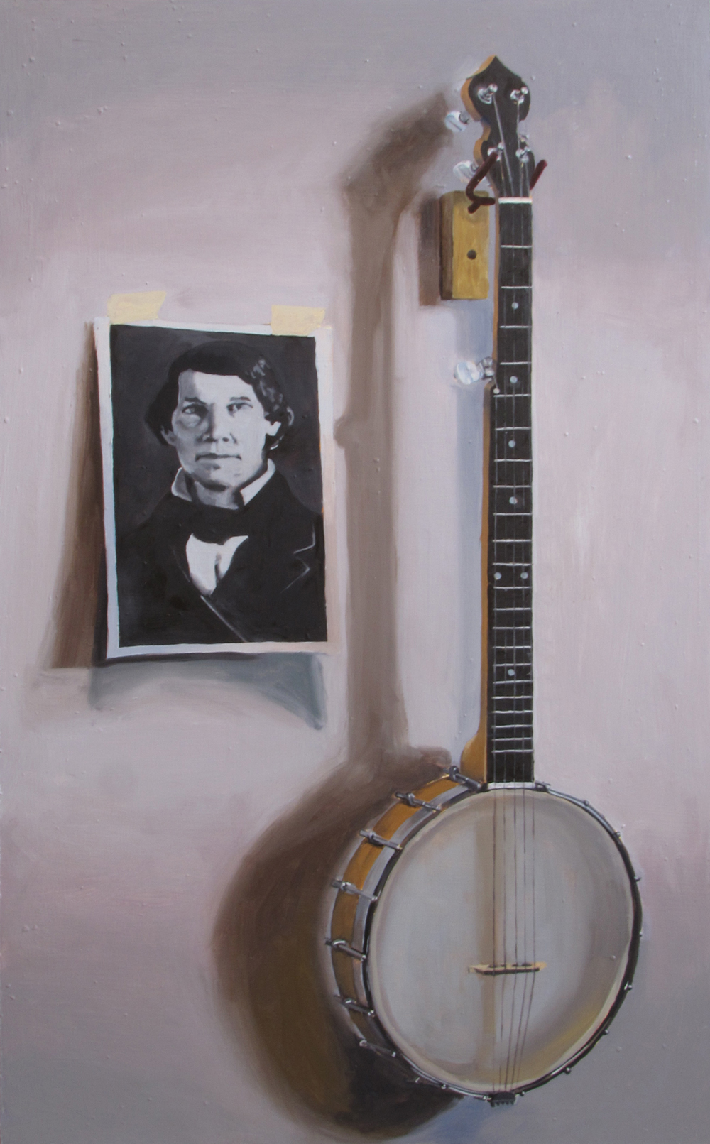 Banjo History  Oil on panel