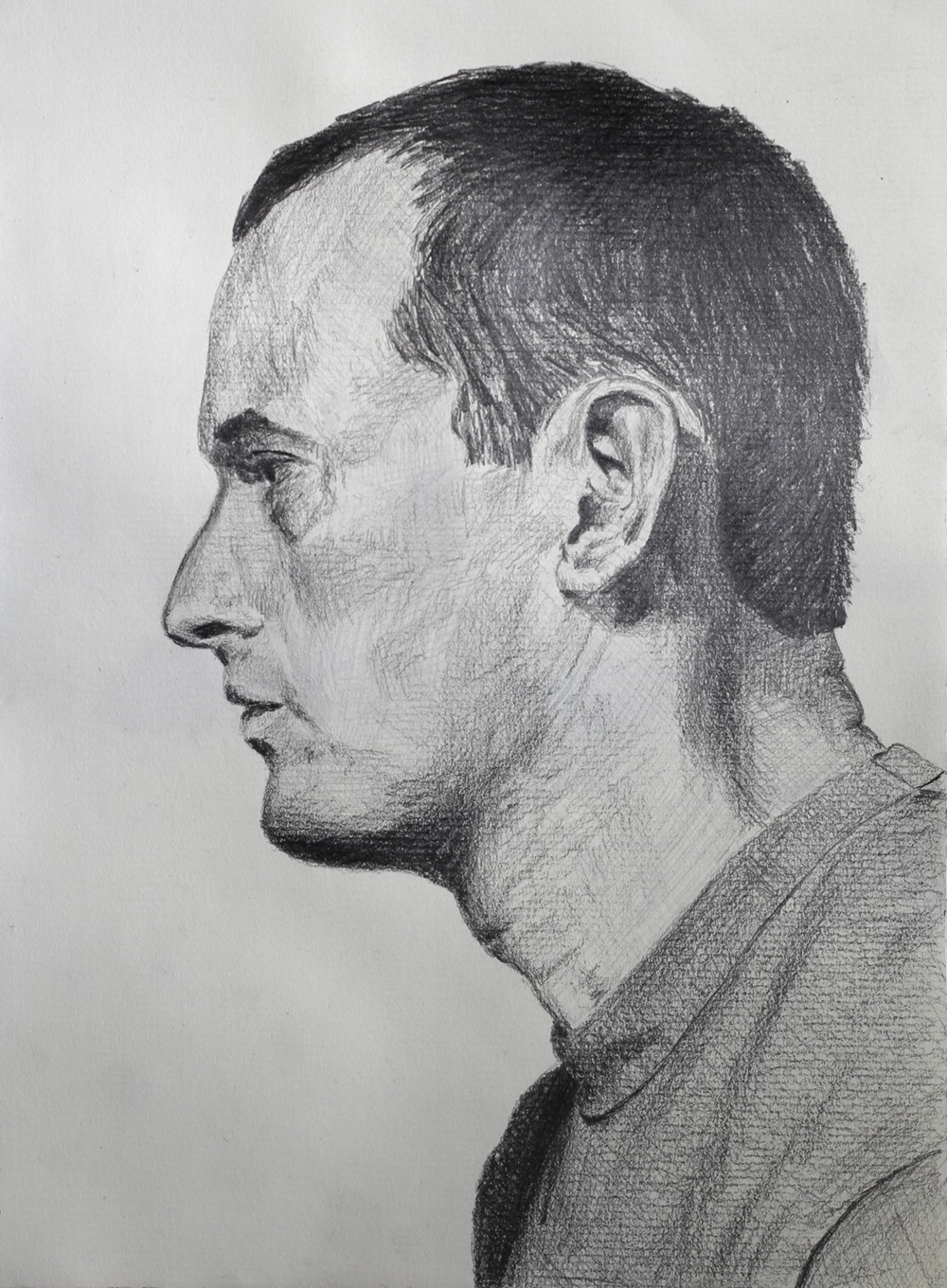 Self Portrait Profile  Graphite on paper