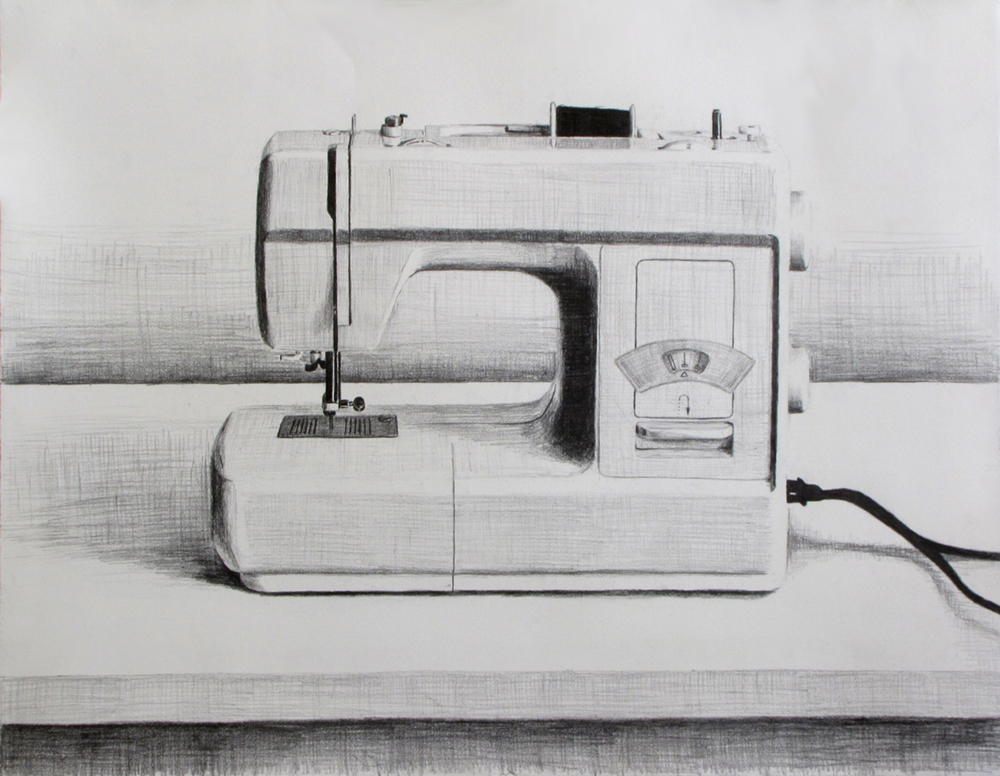 Sewing Machine  Graphite on paper