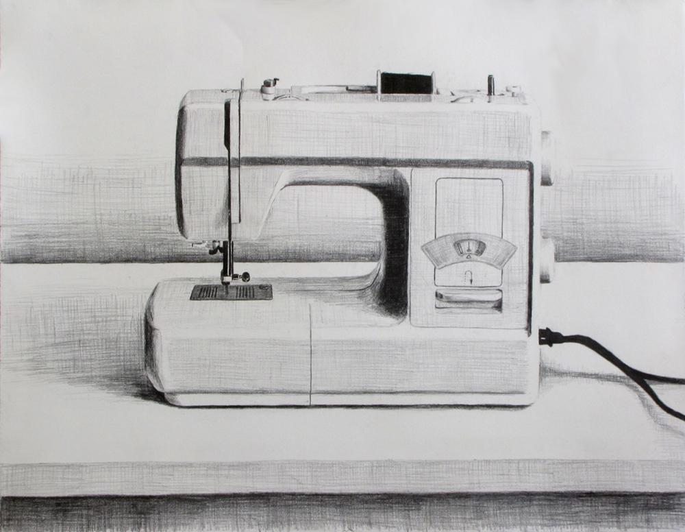 Sewing Machine  Graphite on paper