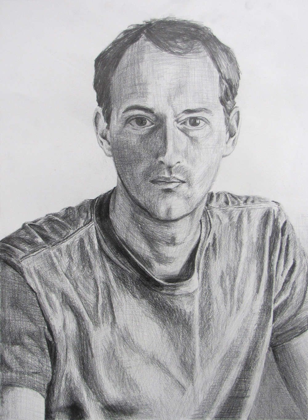 Self Portrait  Graphite on paper