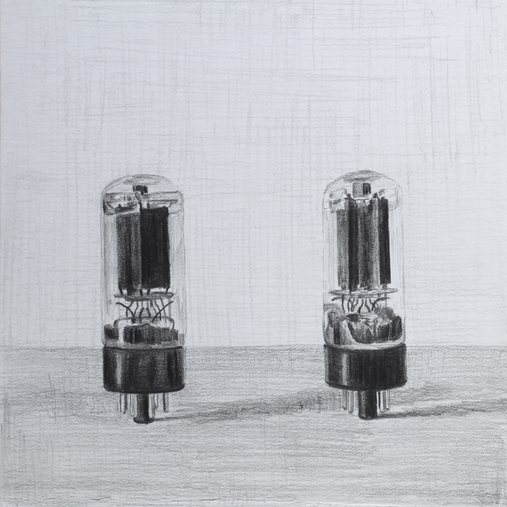 Tubes  Graphite on paper
