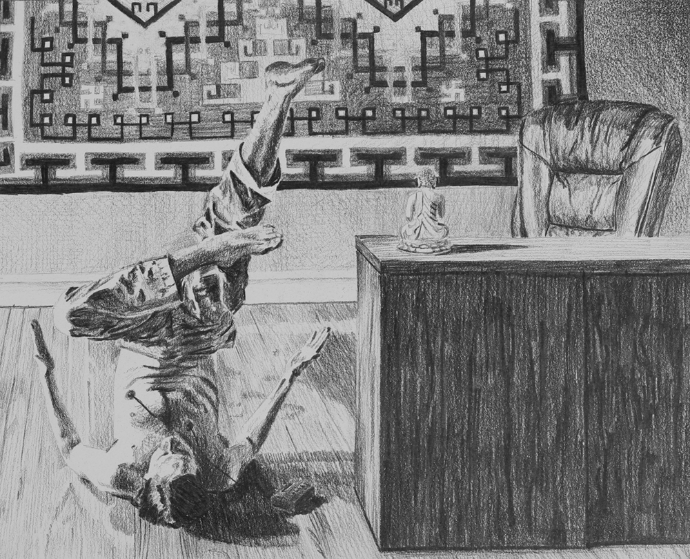 Human Resources  Ep 1 Scene 3 Graphite on paper