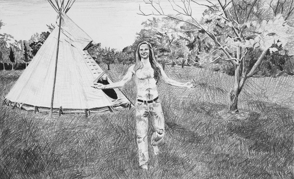 Visiting Nick's House  Ep 2 Scene 4 Graphite on paper