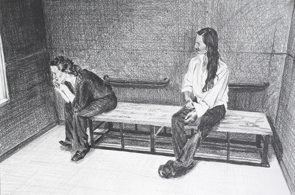 Waiting in the Zoo Jail  Ep 4 Scene 6 Graphite on paper