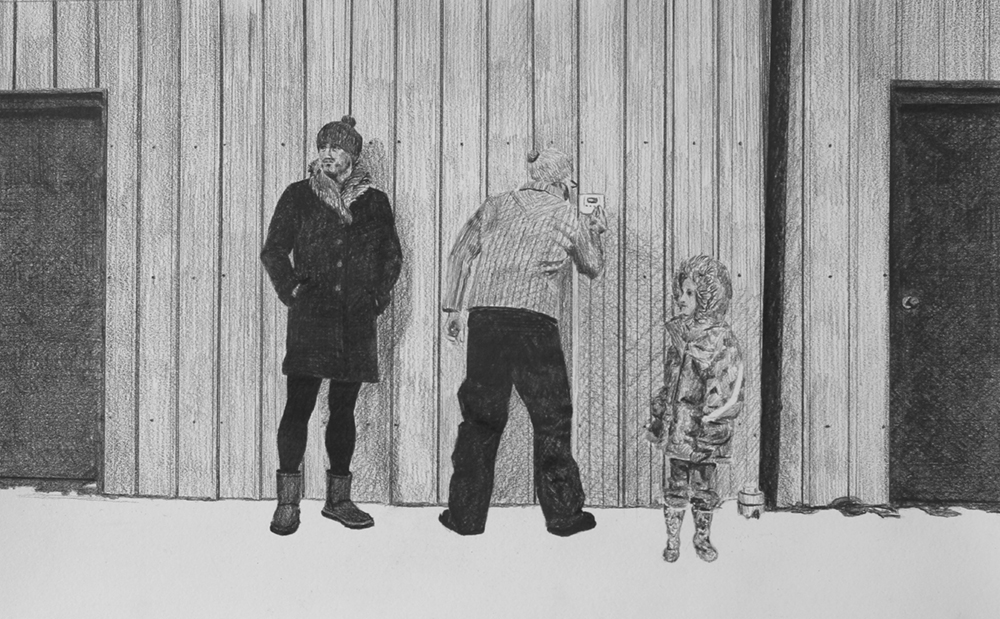 Adjusting the Thermostat   Ep 6 Scene 7 Graphite on paper