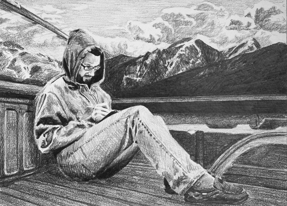 Writing in the Rockies   Ep 2 Scene 5.2 Graphite on paper