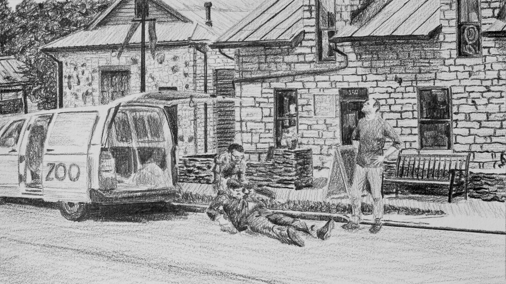 Collecting Victim #1  Ep 4 Scene 8 Graphite on paper