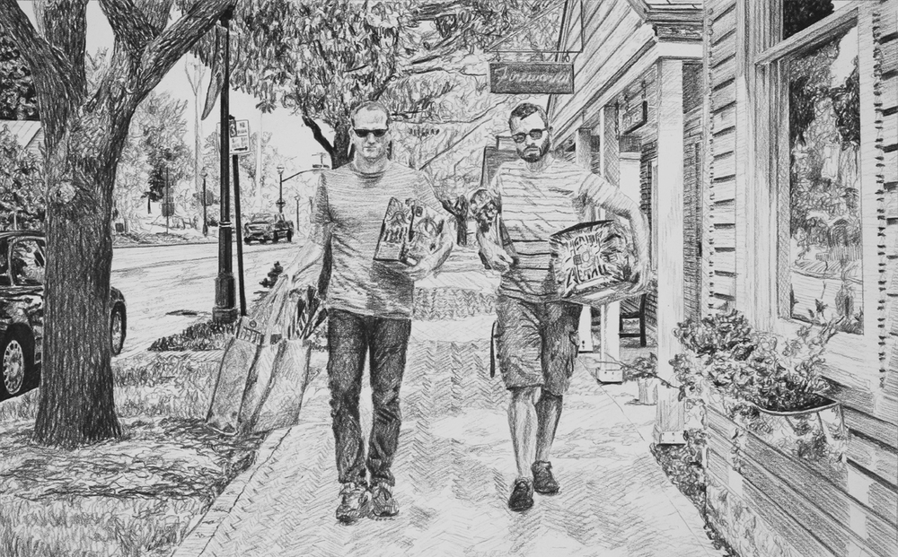 Independence Day Celebration Preparation  Ep 6 Scene 1 Graphite on paper
