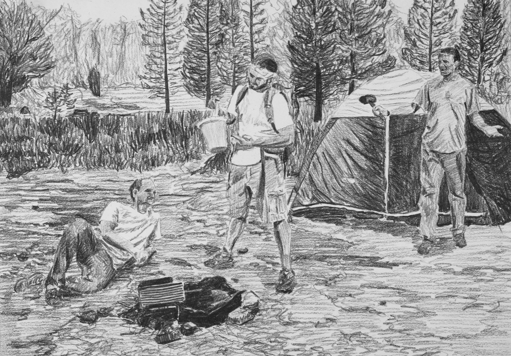 Going Camping  Ep 3 Scene 3 Graphite on paper