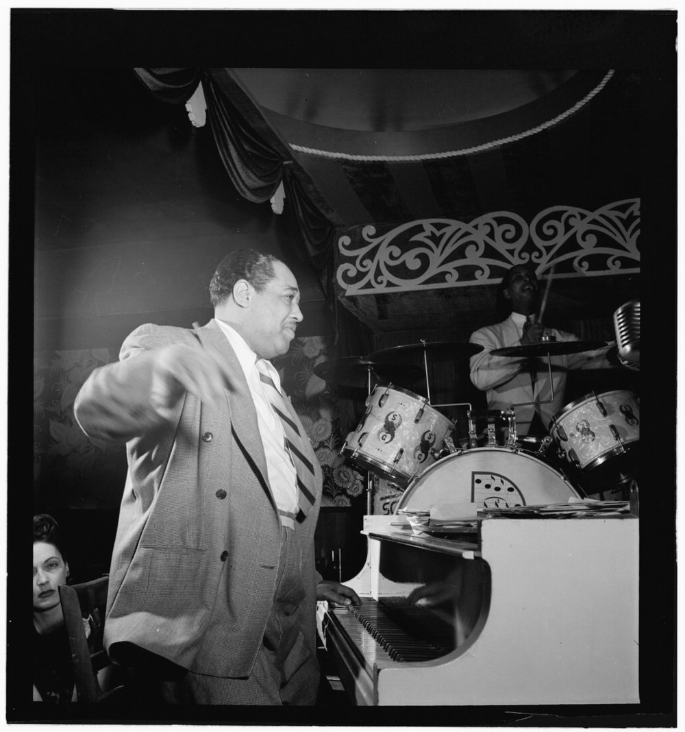 Duke Ellington and Sonny Greer, Aquarium, New York City, November 1946