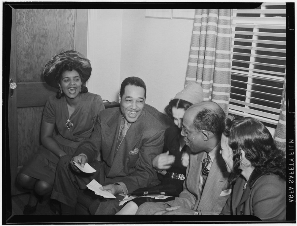 Duke Ellington, William P. Gottlieb's home, Maryland, 1941