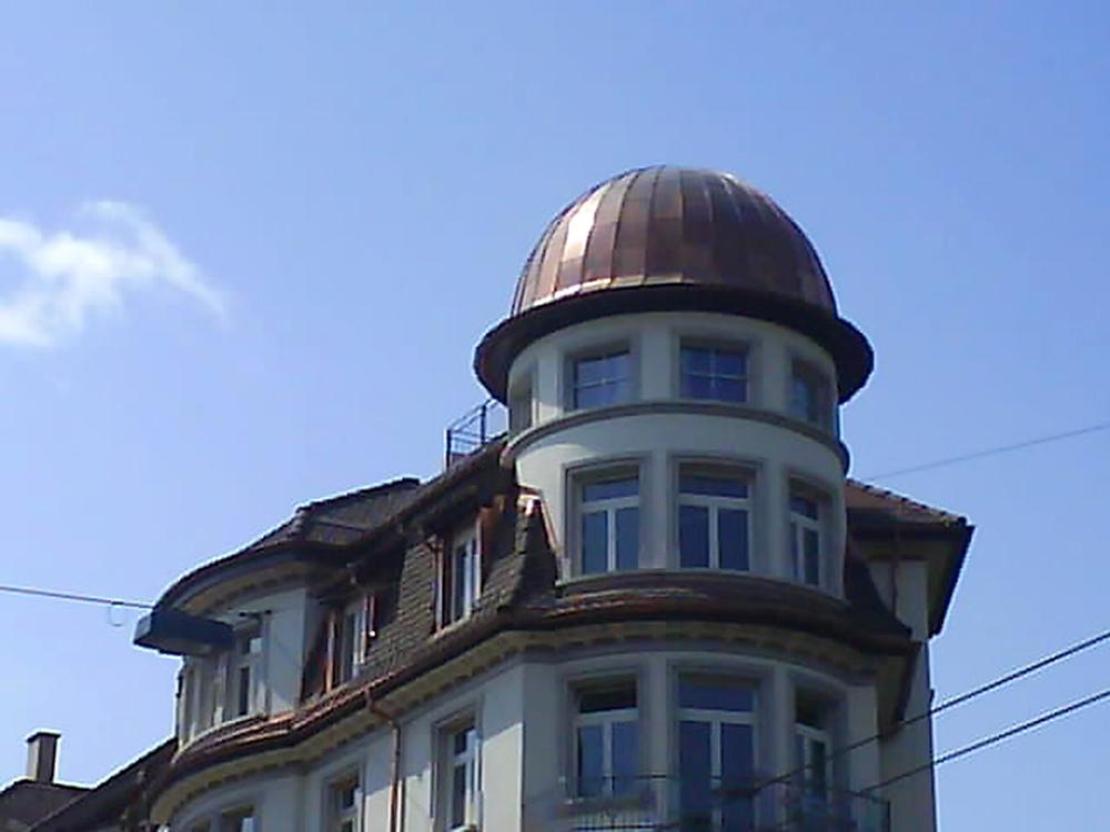 Ansicht mit Kuppel